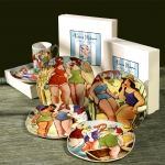 BATHING BEAUTIES DESSERT PLATE SET