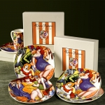 PARTY TIME DESSERT PLATE SET