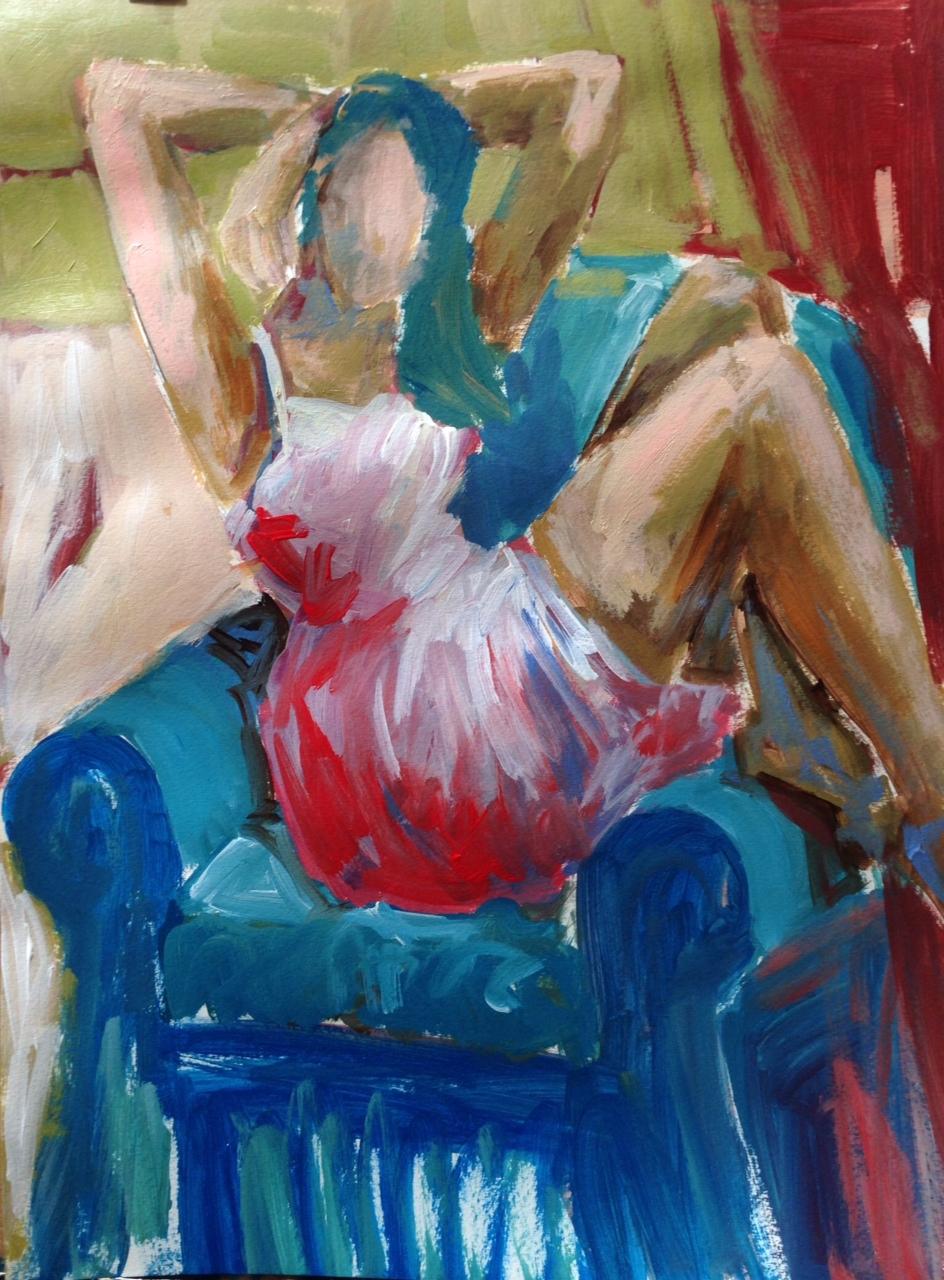 Blue Arm chair