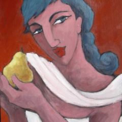 Girl with a Pear