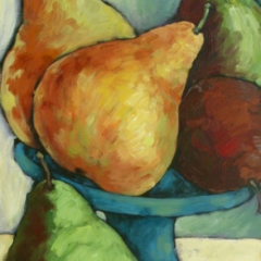 The Blue Bowl and Pears
