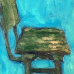 Vintage Green Bar Stool , View No. 3