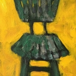 Vintage Green Bar Stool, View No. 1