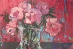 Mini Roses in the Glass Jar